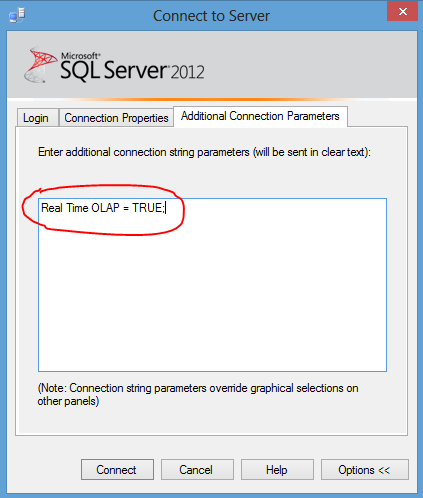 ssms additional connection parameters